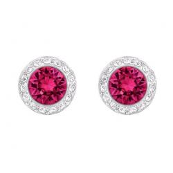 Angelic Pierced Earrings, Red, Rhodium plating