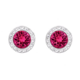 Angelic Pierced Earrings, Red, Rhodium plating