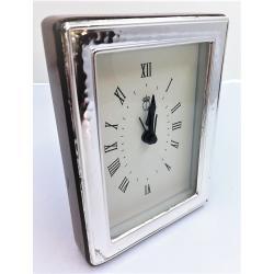 Reloj Despertador Plata Martele