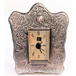 Reloj Despertador Plata Barroco
