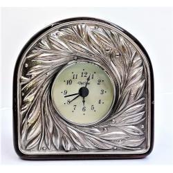 Reloj Despertador Plata Hojas