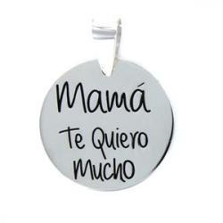 Colgante Plata Mamá Te Quiero Mucho