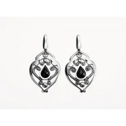 Azabache Jet Silver Earrings