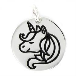 Colgante Plata Unicornio