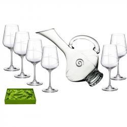 Juego de Vino - 6 Copas y Decantadora