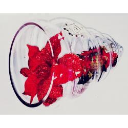Centro Cristal Caracola decorado Rojo