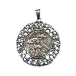 Medalla Cuna Plata Angel de la Guarda