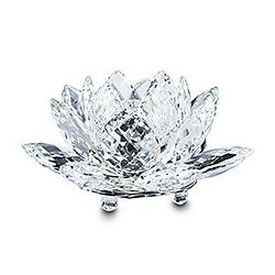 Waterlily Candleholder Large Silver Crystal