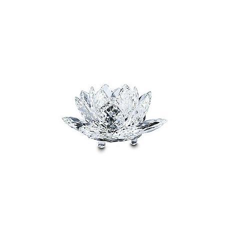 Waterlily Candleholder Large Silver Crystal-119747-SWAROVSKI-www.monteroregalos.com-