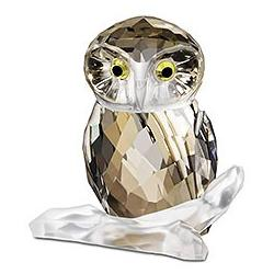 Owl Medium Silver Crystal