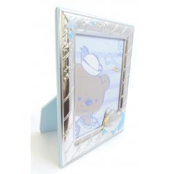 Bilaminated Silver Baby Photo Frame