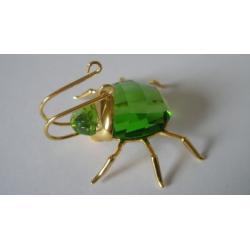 Small Aranos Peridot Beetle Swarovski