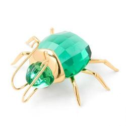 Large Aranos Light Emerald Beetle Swarovski
