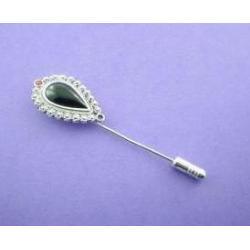 Azabache - Silver Brooch
