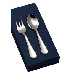 Set cubiertos plata liso 01451 for Cubiertos de plata precio