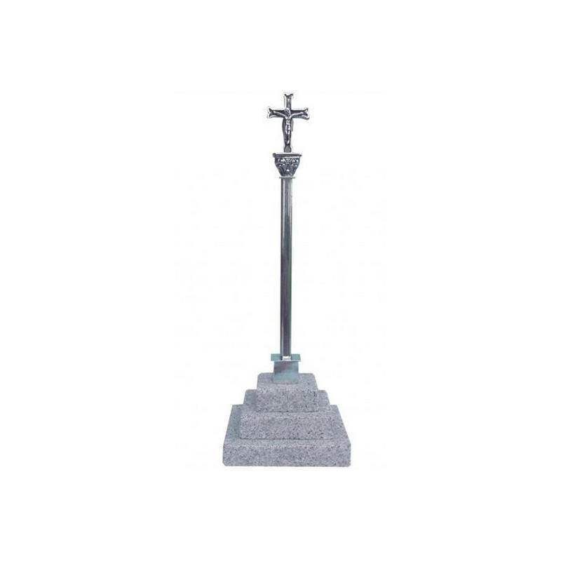 Cruceiro plata base piedra 3811 Artesania gallega regalos