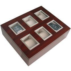 Caja 6 Relojes Detalle Plata Liso