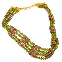 Olivine Necklace Swarovski