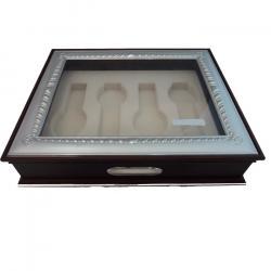 Caja 4 Relojes Tapa Cristal