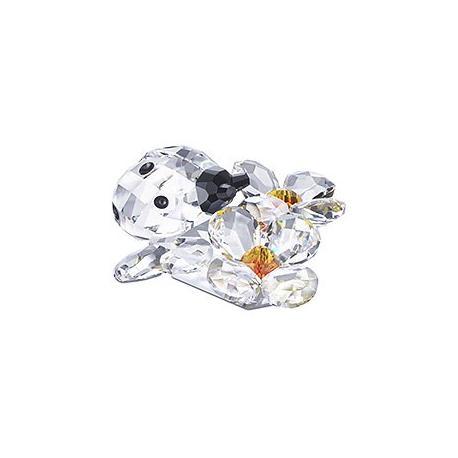 Ladybird on flower Swarovski Silver Crystal-842804-SWAROVSKI-www.monteroregalos.com-