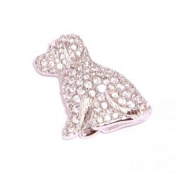Dog Brooch Swarovski