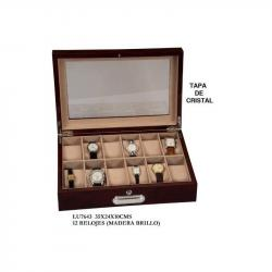 Caja 12 Relojes con Tapa Cristal