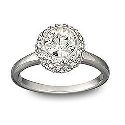 Flirt Rhodium Ring Swarovski
