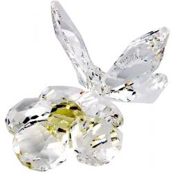 Butterfly on flower Swarovski Crystal