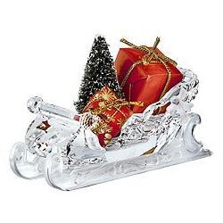 Christmas Santa's Sleigh Swarovski