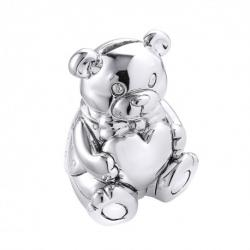 Sterling Silver Bear Money Bank