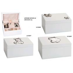 Musical White Jewelry Box