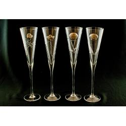 Set Copas Cristal Tallado Modelo Radu