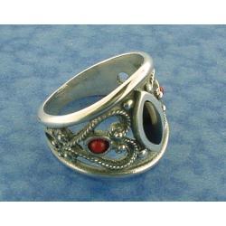 Azabache Jet Silver Ring