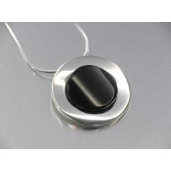 Azabache Jet Silver Pendant