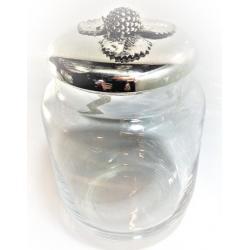 Tarro de Cristal con Plata