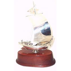 Silver Sailboat